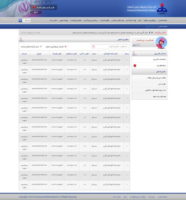 شرکت پتروشیمی دماوند - پروفایل کاربری - دفترچه تلفن