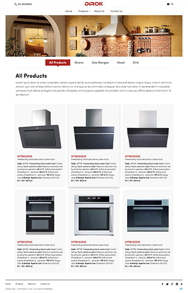 DIROK - لیست محصولات