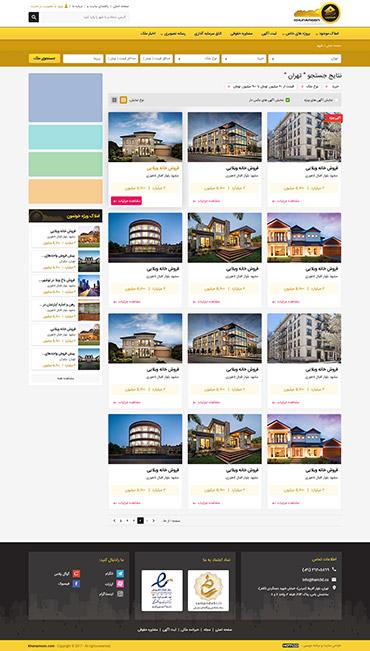 خونمون - صفحه ملک های یک شهر