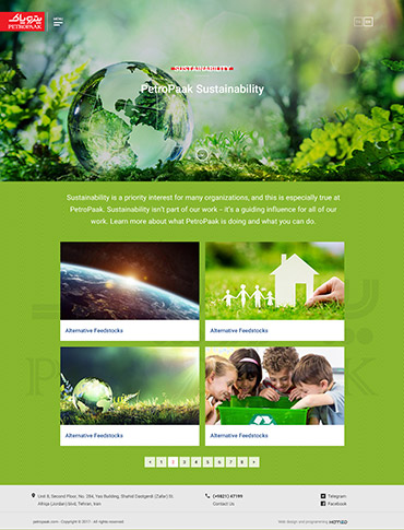 Petropaak Mashreq Zamin - Sustainability